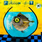 Poisson-chat - 2016 - 100x100 cm